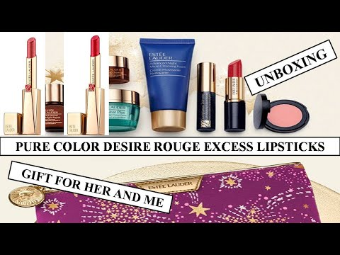 [UNBOXING] PURE COLOR DESIRE ROUGE EXCESS LIPSTICKS ESTEE LAUDER LIPSTICKS GIFT BAG GIFT FOR HER ME