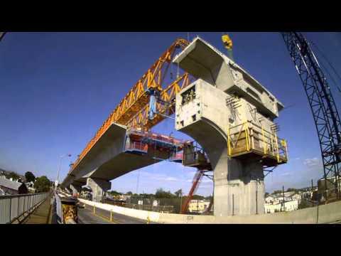 Bayonne Bridge Roadway Segment Installation - February 2016