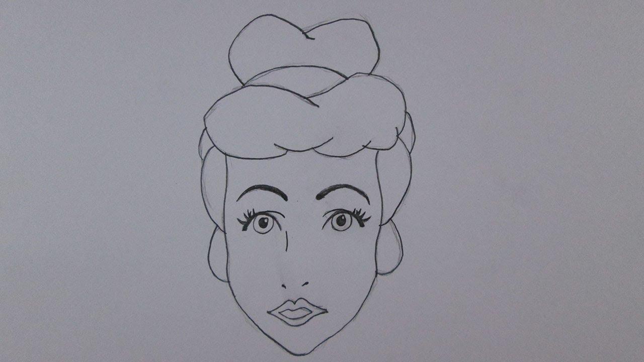 Rostos Desenhos: Como Desenhar A Cinderela