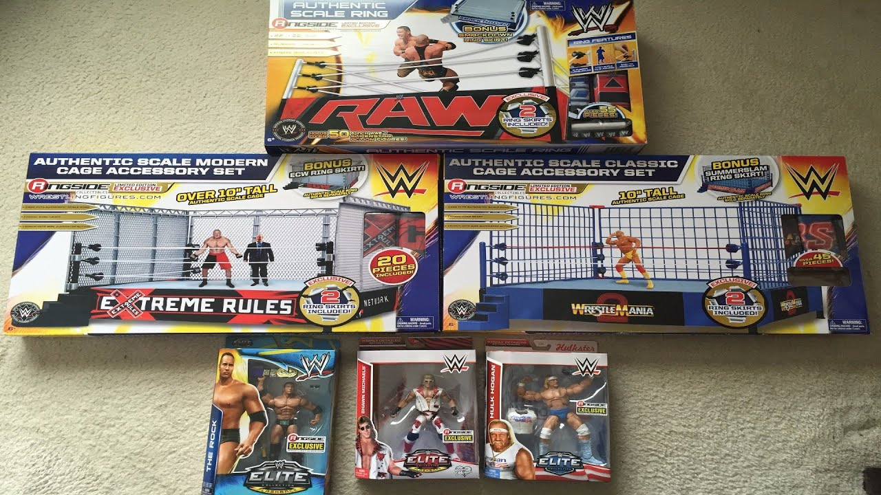 Toys R Us Wwe Rings : Large ringside collectibles unboxing wwe elite figures