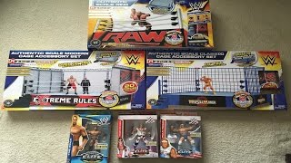 LARGE RINGSIDE COLLECTIBLES UNBOXING WWE Elite Figures, Steel Cages, & Elite Scale Ring - 2015