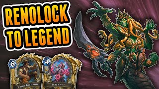 How I got to Legend in May 2019 | Reno Warlock | Wild Hearthstone Rise of Shadows