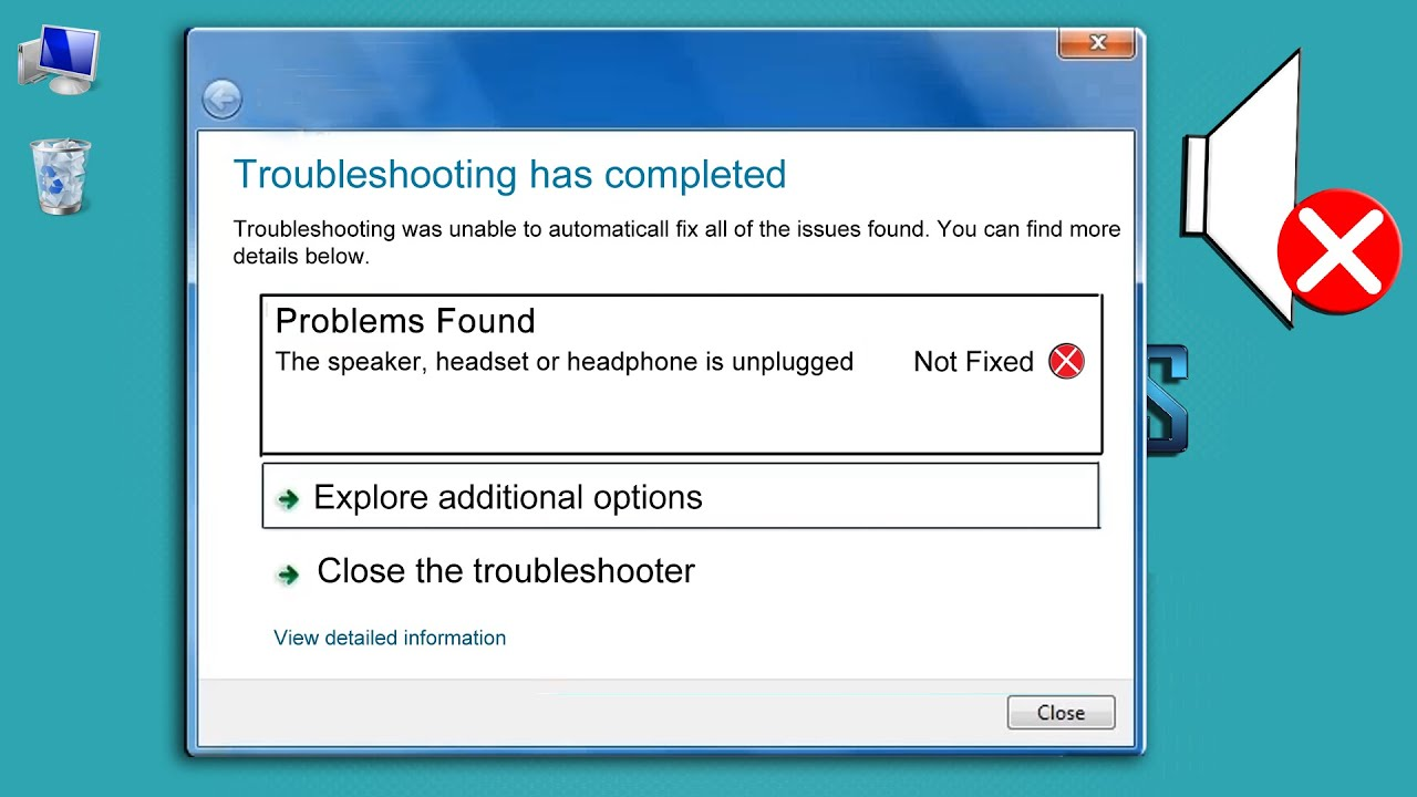 FIXED SPEAKERS HEADSET OR HEADPHONE IS UNPLUGGED. - YouTube