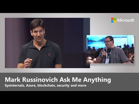 Ask me anything, with Mark Russinovich on cloud, Sysinternals, security, and more