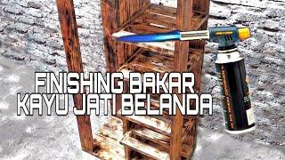 Finishing Motif Bakar Kayu Jati Belanda