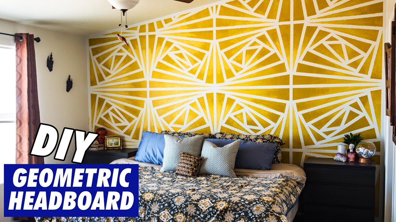 Vibrant Geometric Wall Painting - YouTube