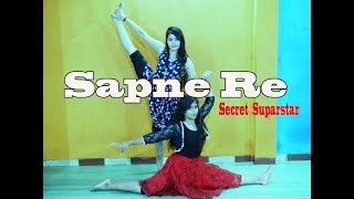 Sapne re | Secret Superstar | Zara wasim, Aamir khan Dance choreography