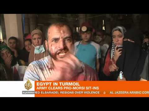 Security forces clear Cairo protest camp