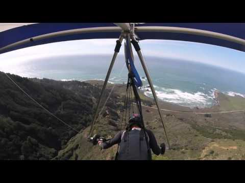 Hang gliding at Big Sur