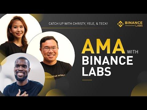 #Binance Labs AMA - Feb 19th 2019