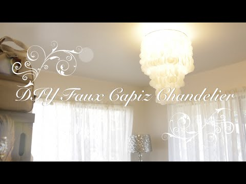 diy-faux-capiz-chandelier