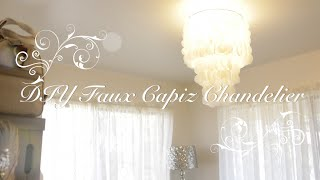 Diy Faux Capiz Chandelier