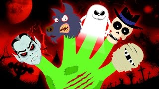 spooky freaky finger family spooky finger family scary nursery rhymes hooplakidz toons