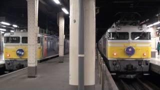 上りカシオペアの運転日、上野駅では4分間だけ北斗星と隣り同士で並びま...