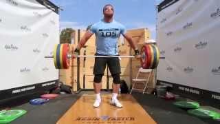 Dmitry Klokov smashing a 170Kg Snatch in Slow Motion
