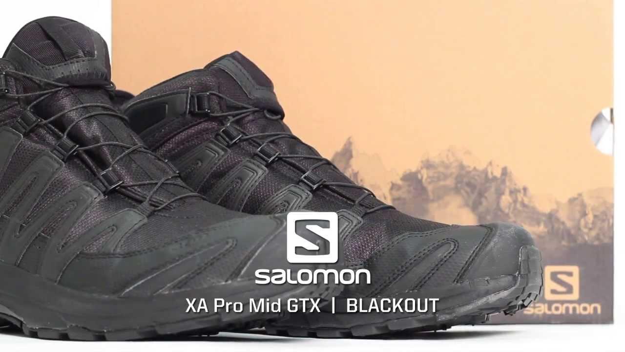 Salomon XA Pro Mid GTX Black Out Edition