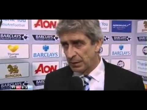 Manchester United vs Manchester City 0-3 Manuel Pellegrini Post Match Interview