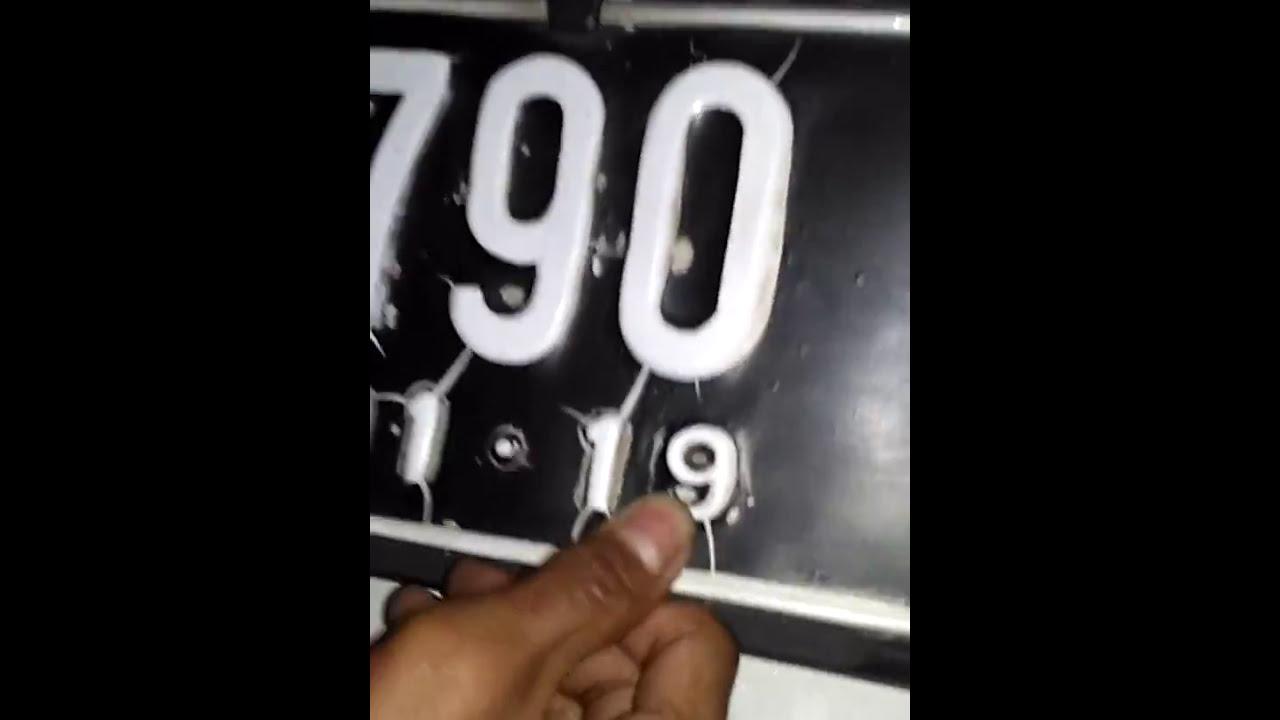 Cara Mengganti Dan Memasang Plat Nomer Mobil Youtube Cover Nomor Izy