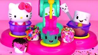 Marshmallow Maker Hello Kitty Stuffs Marshmallows With The Magic Marshmallow Stuffer!