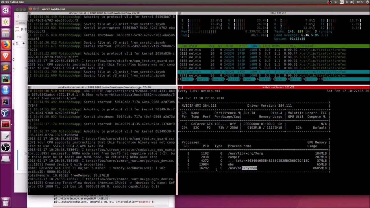 Tensorflow (/deep learning) GPU vs CPU demo