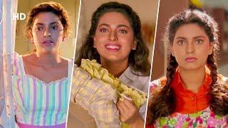 90's Diva JUHI CHAWLA scenes from Blockbuster 'Hum Hai Rahi Pyar Ke'  Aamir Khan | Comedy Movie