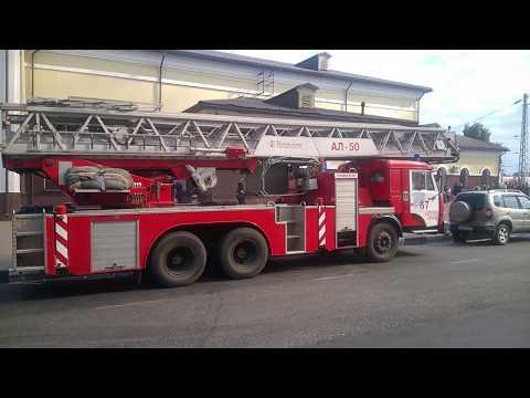 Пожар на вокзале в Сергиевом Посаде