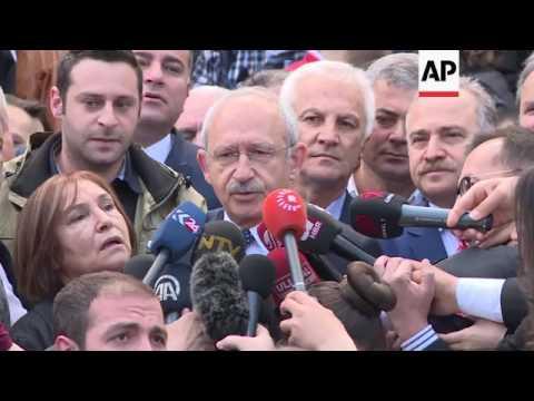 Turkey opposition leader speaks after voting