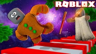 SPACE GRANNY HAS BUILD INSANE OBSTACLE COURSE! Roblox Granny!