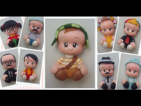 Turma do Chaves ímas Biscuit - AngellArtes