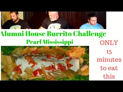Alumni House Sports Bar and Grill  Huuuge Burrito Challenge