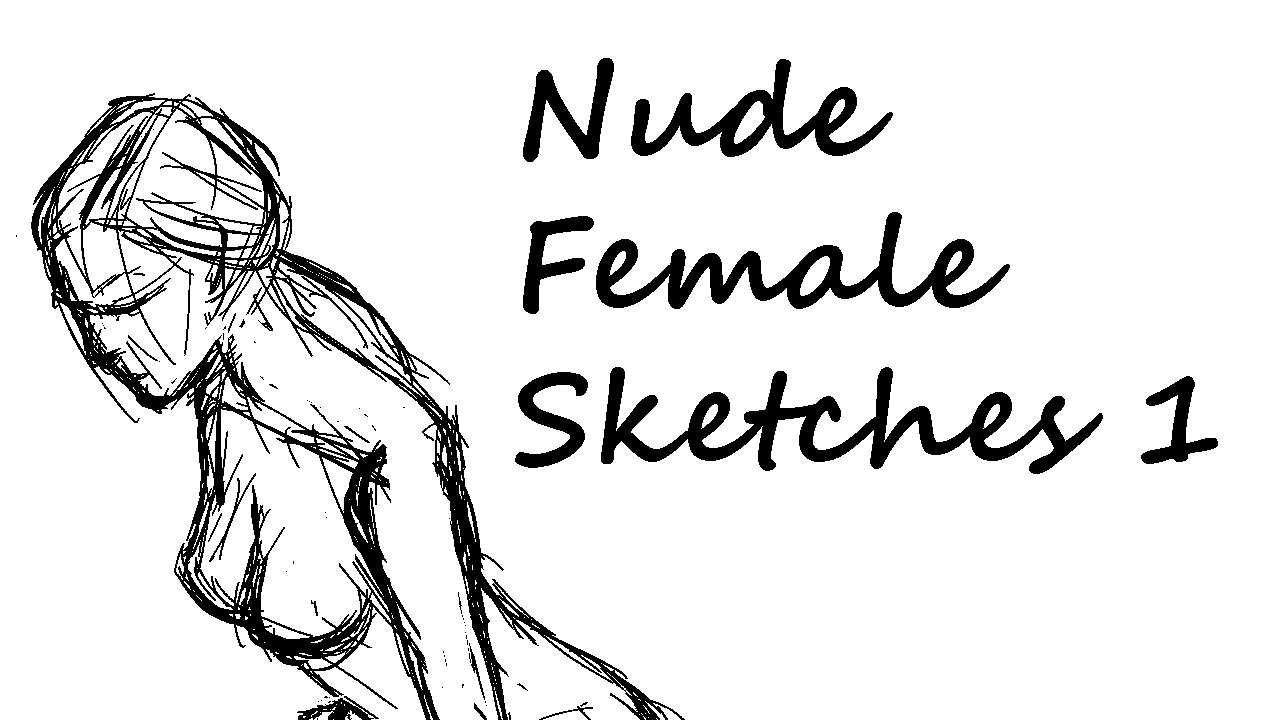 Nude female sketches 1