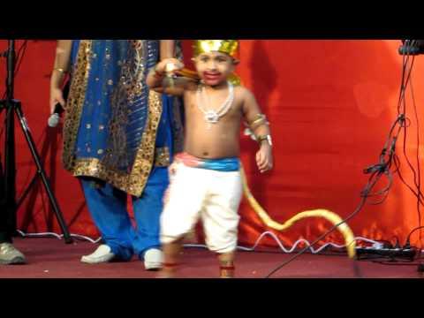 Varun's Hanuman fancy dress