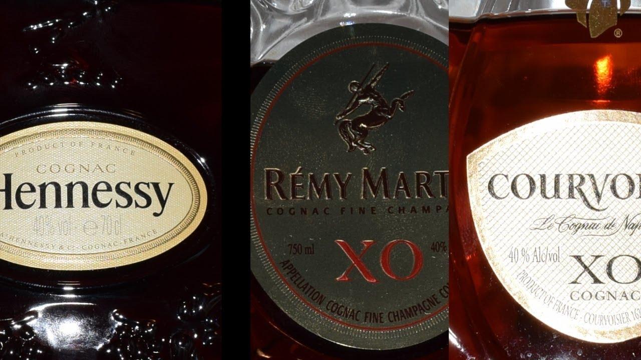 XO Cognac Challenge: Hennessy Vs  Remy Martin Vs  Courvoisier