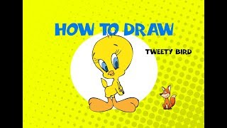 How to draw Tweety Bird - Learn to Draw - ART LESSON arte