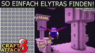 115.000 Blöcke fliegen! End City TRICK & Elytra Ausbeute! - Minecraft Craft Attack 8 #251