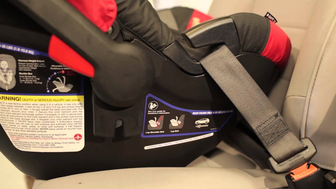 c7c8b4ceabc Britax B-Safe 35   35 Elite Infant Car Seat Installation Video - YouTube
