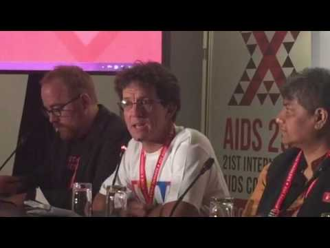 Mark Heywood condemning the attack on the Lawyers Collective at the AIDS 2016 conference