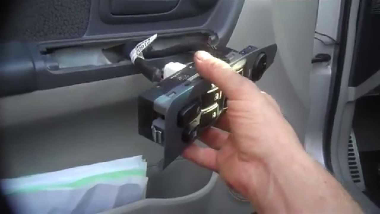 Window switch door lock assembly replacement 2005 Kia Spectra Install Remove Replace  YouTube