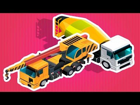 เกมส์ - สร้าง รถบรรทุก รถโม่ปูน รถยก รถเครน