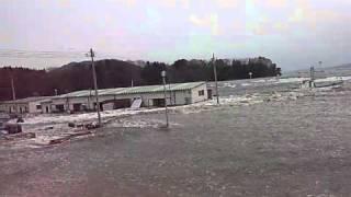 陸前高田市消防団員の津波映像 フル映像その1