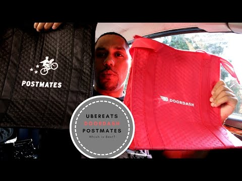 Which is best?  Ubereats vs Doordash vs Postmates 🚗⛽🚦