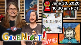 Nova Luna and Pictures! - GameNight! Live 2020 Spiel des Jahres Nominees