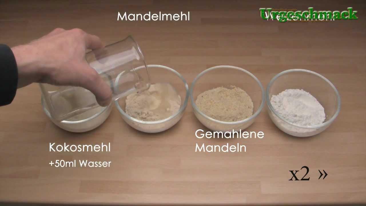 Mehlvergleich Mandelmehl Kokosmehl Gemahlene Mandeln Weizenmehl