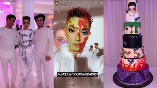 James Charles X MORPHE palette (launch party snapchat)