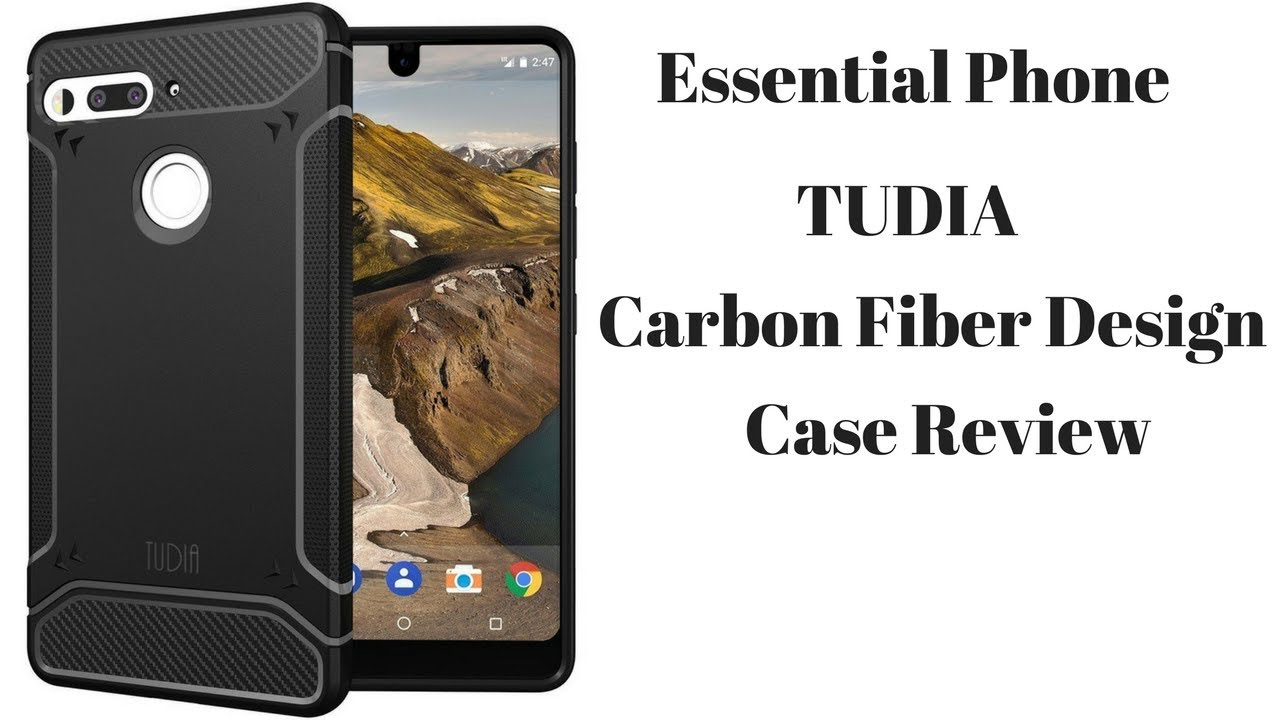 sale retailer a6c66 12448 Essential Phone TUDIA Carbon Fiber Design Case Review