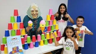 Kids Pretend Play Granny Ice Cream Cart Food Toys