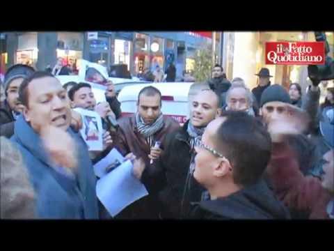 Libia, La Protesta Davanti Al Consolato Di Milano