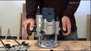 Фрезер ручной  вертикальный Bosch GOF 1600 CE (презентация на русском)