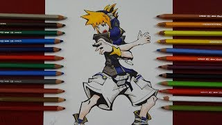 Dibujo Neku | Neku Draw | Kingdom Hearts