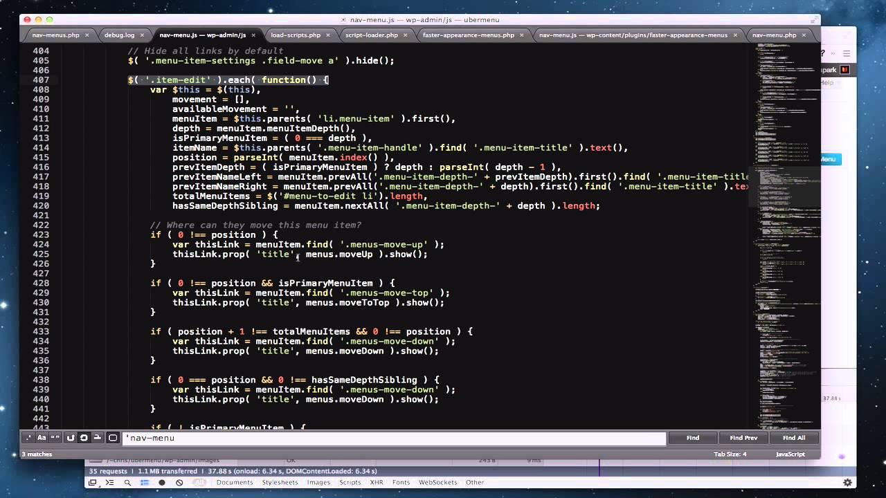Slow Appearance - Menus Screen in WordPress 3.6 Fix - YouTube